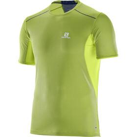 Salomon Trail Runner SS Tee Men Acid Lime/Dress Blue
